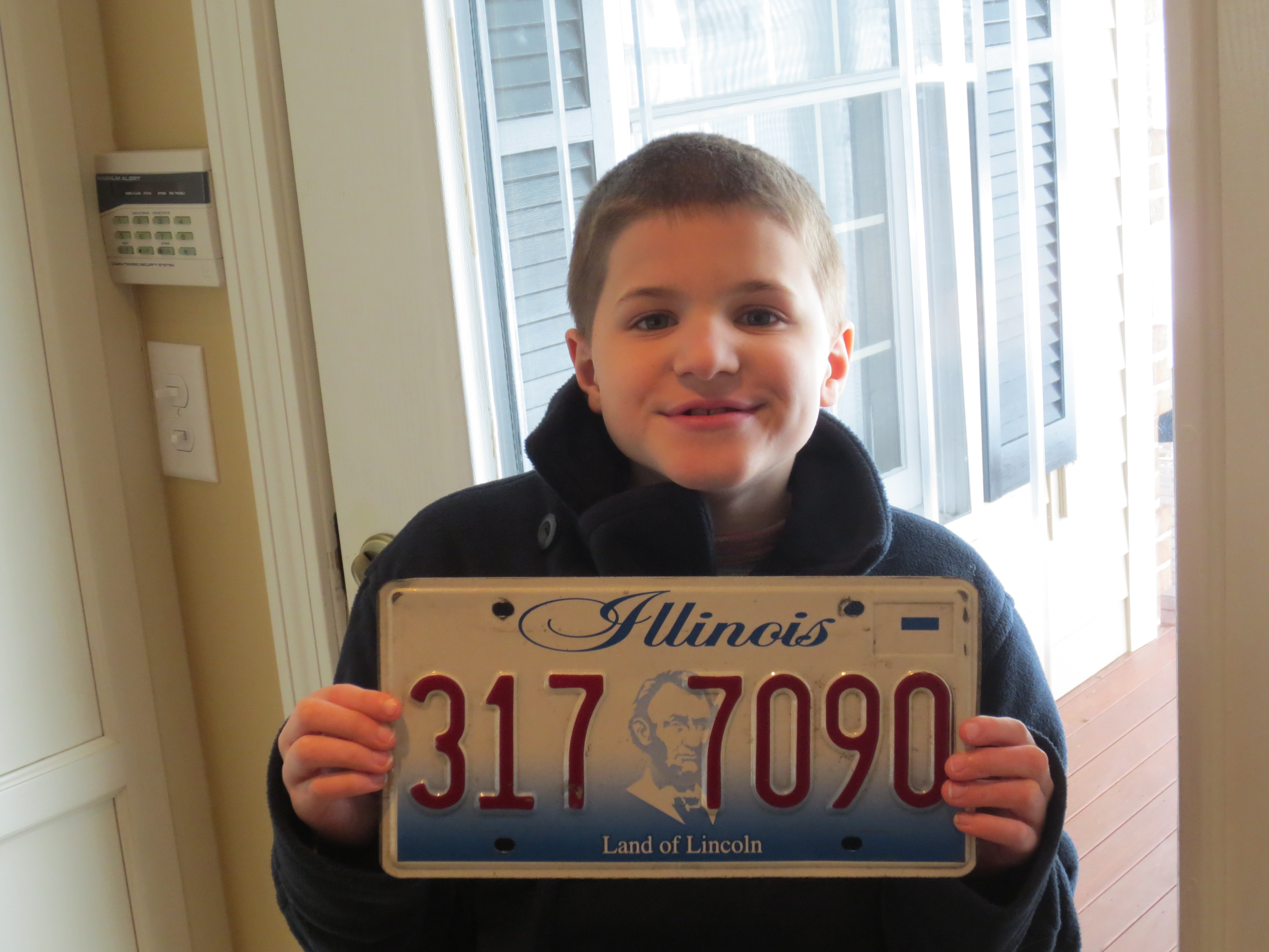 Jack and his Illinois license plate