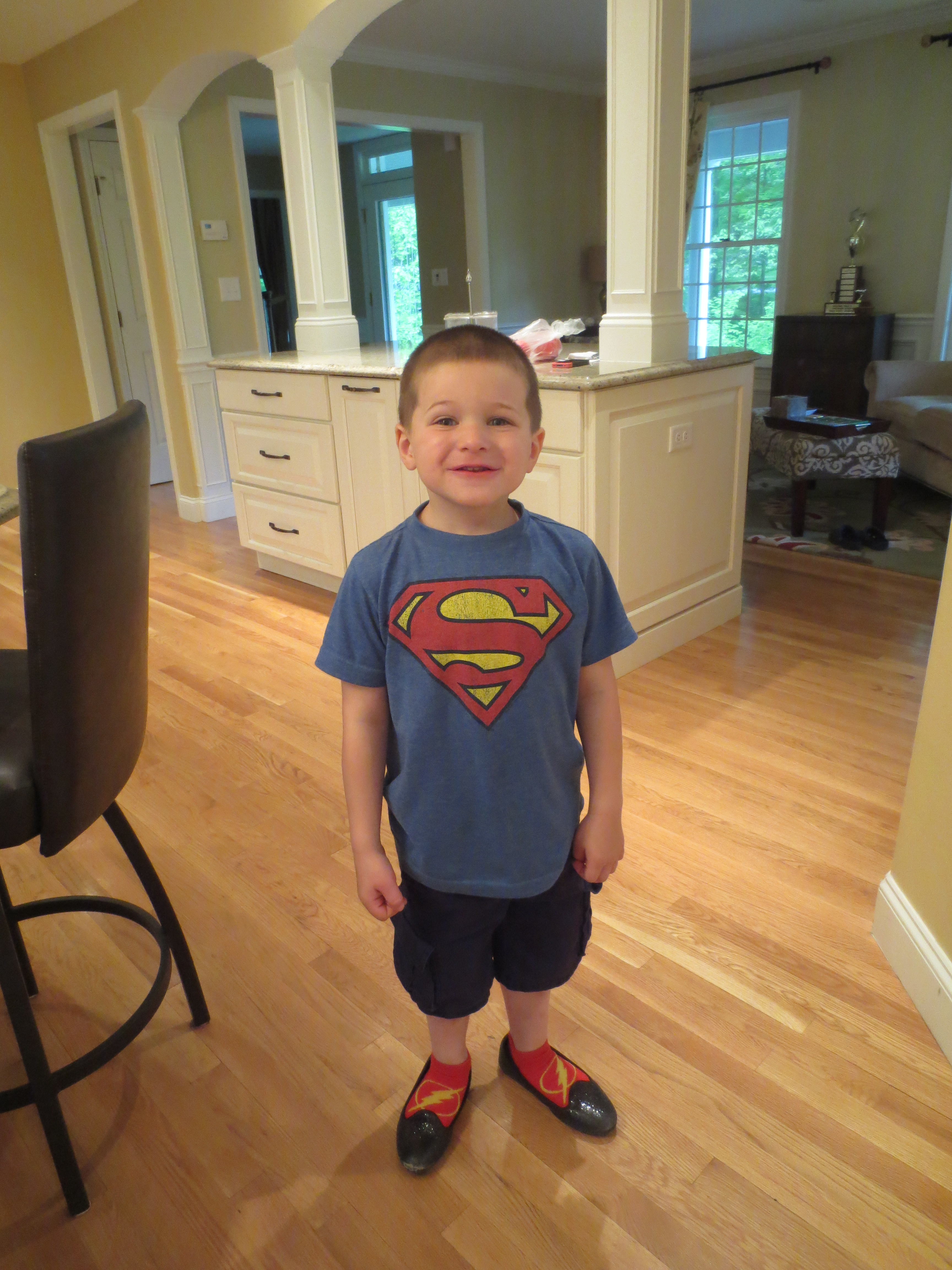 Even Superman needs a little sparkle.