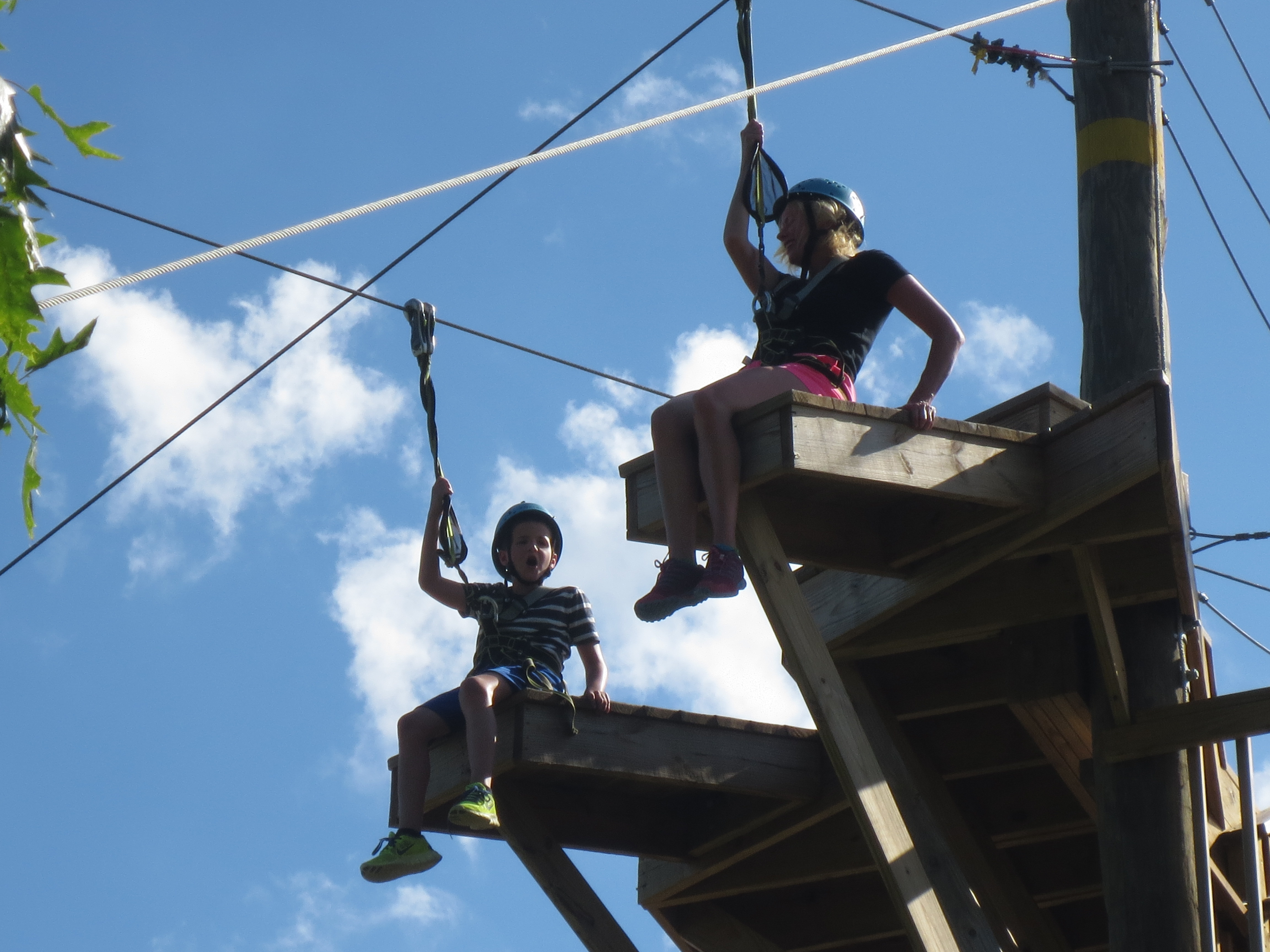 Jack and I on the final zip line.