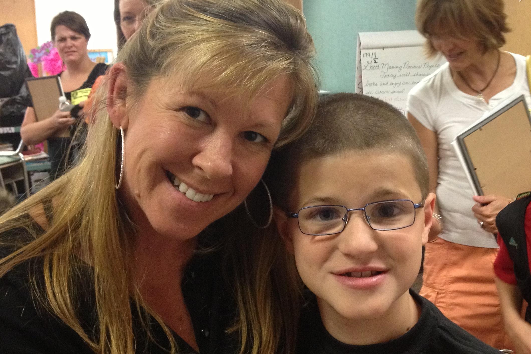 Jack and his third-grade teacher, Mrs. Brennan