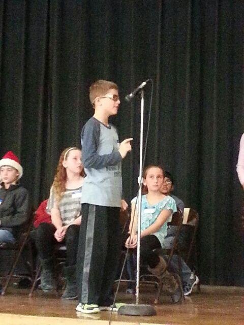 Joey at the spelling bee