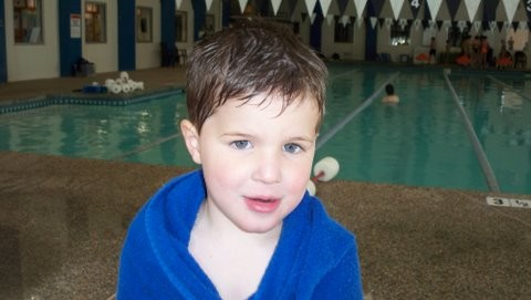 """Jack's first swim lesson """"No water no water no water"""""""