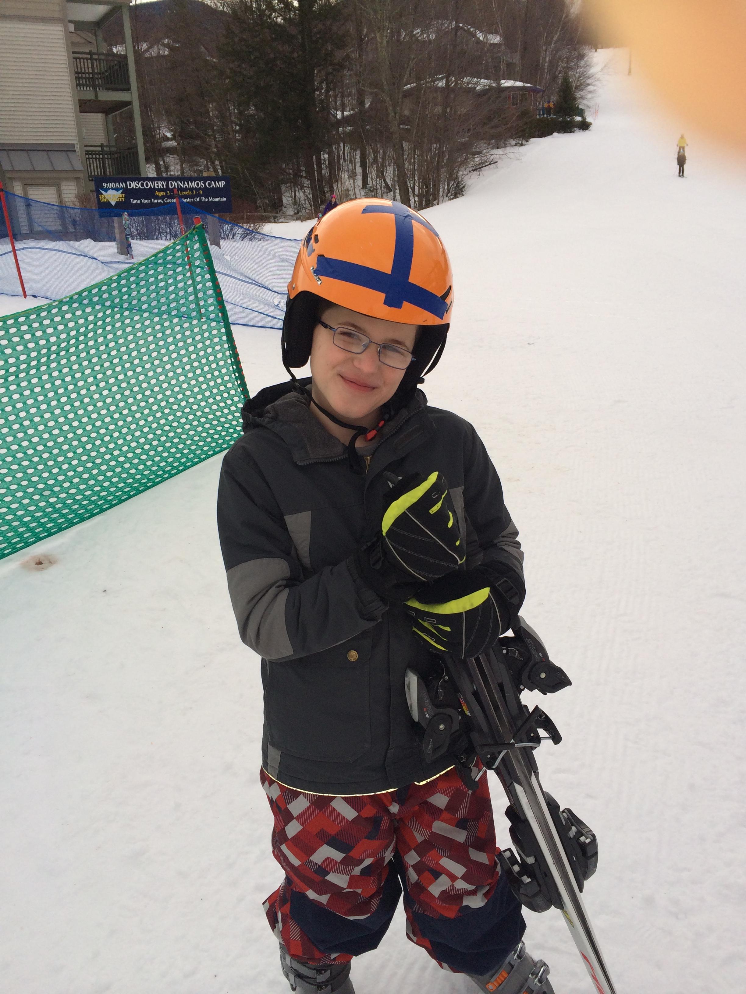 Jack skiing